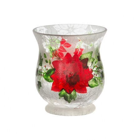 Porta Votive Iced Poinsettia