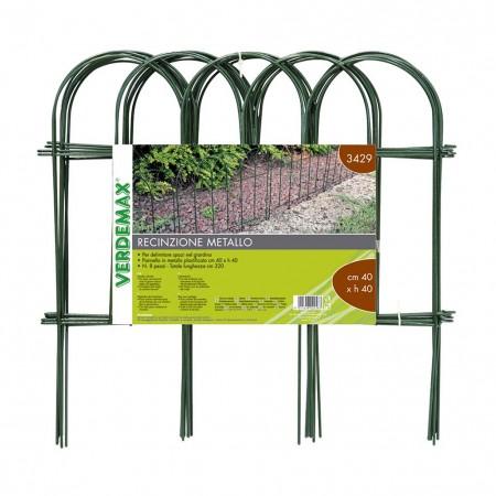 Recinzione ad Arco in acciaio verde 40xh40cm Verdemax