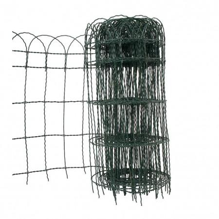 Rete per aiuole acciaio plastificato 10xh0,40m Verdemax