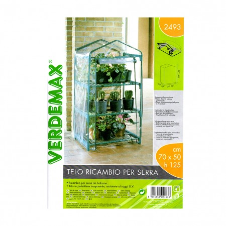 Telo ricambio serra a 3 ripiani Azalea verde Verdemax