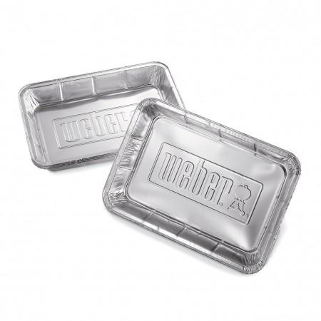 Vaschette in alluminio Weber per barbecue carbone 47 e 57 cm 10 Pz