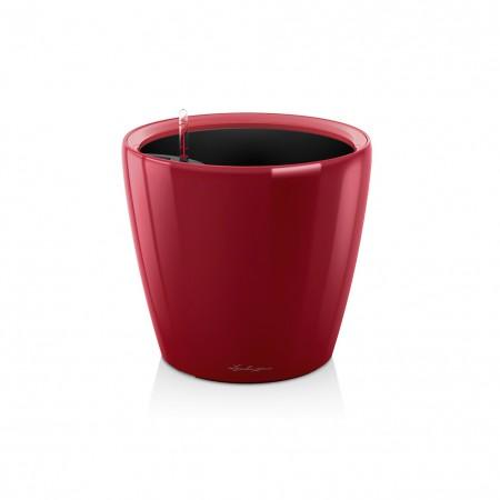 Vaso Lechuza Classico Premium LS 28 Rosso Scarlatto Lucido Ø28xh26 cm