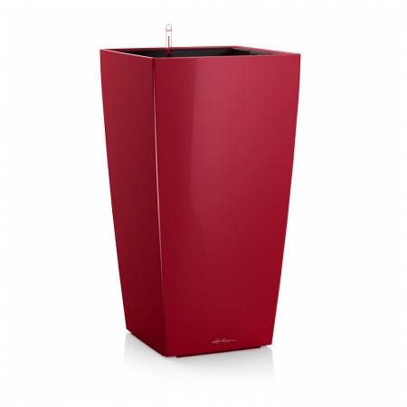 Vaso Lechuza Cubico Premium 40 Rosso Scarlatto Lucido 40x40xh75 cm