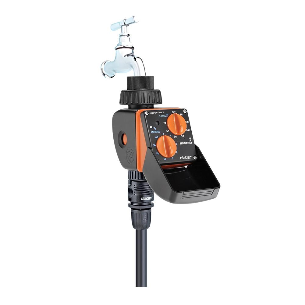 Centralina irrigazione aquauno select claber for Programmatore irrigazione a batteria claber
