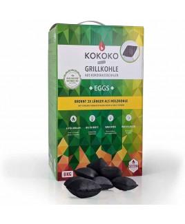Carbonella di cocco in bricchetti Eggs Kokoko premium 8kg McBrikett