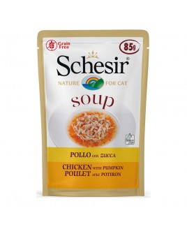 Alimento gatto Schesir cat Soup Pollo con zucca 85g