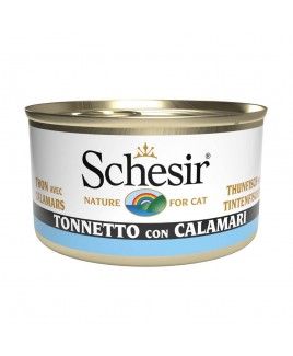 Alimento gatto Schesir cat tonnetto e calamari 85g