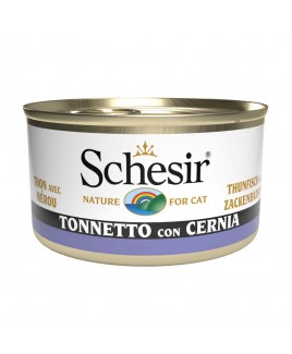 Alimento gatto Schesir cat tonnetto e cernia 85g