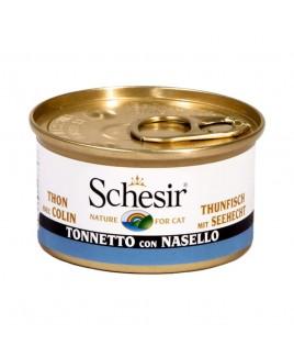 Alimento gatto Schesir cat tonnetto e nasello 85g