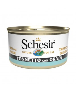 Alimento gatto Schesir cat tonnetto e orata 85g