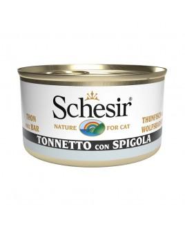 Alimento gatto Schesir cat tonnetto e spigola 85g