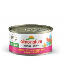 Alimento gatto Almo Nature HFC natural salmone e pollo 70g