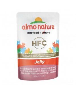 Alimento gatto Almo Nature Jelly tonno e gamberetti 55g
