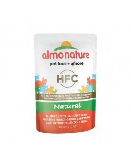 Alimento gatto Almo Nature natural salmone e zucca 55g