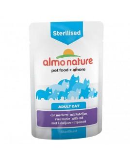 Alimento gatto Almo Nature sensitive sterilised con merluzzo 70g