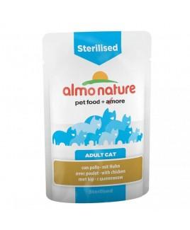 Alimento gatto Almo Nature sensitive sterilised con pollo 70g