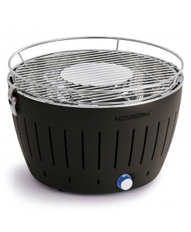 Barbecue portatile a carbonella LotusGrill Nero con USB LGG34U