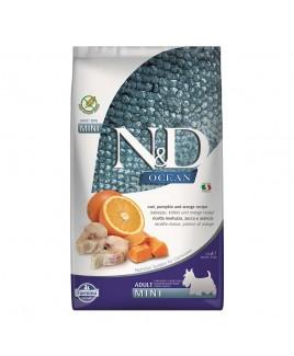 Alimento secco per cani Farmina Natural e Delicius Ocean Adult Mini Merluzzo arancia e zucca 2,5kg