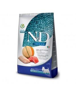 Alimento secco per cani Farmina Natural e Delicius Ocean Adult Mini SalmoneMerluzzo melone 800g