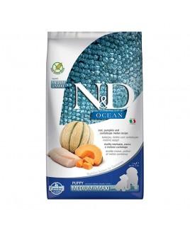 Alimento secco per cani Farmina Natural e Delicius Ocean Puppy Medium maxi merluzzo melone e zucca 2,5kg