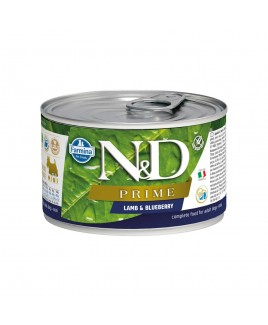 Alimento umido per cani Farmina Natural e Delicius Prime adult mini Agnello e mirtilli 140g