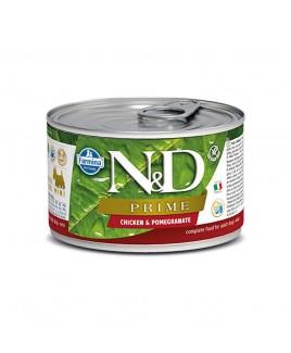 Alimento umido per cani Farmina Natural e Delicius Prime Adult mini pollo e melograno 140g