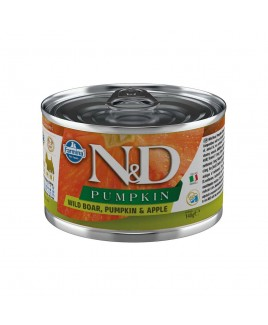 Alimento umido per cani Farmina Natural e Delicius Pumpkin Adult mini Cinghiale mela e zucca 140g