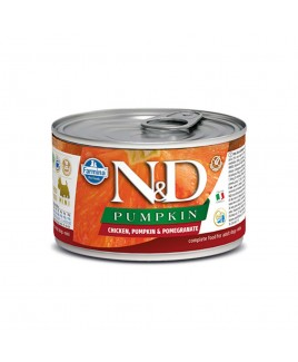 Alimento umido per cani Farmina Natural e Delicius Pumpkin Adult mini Pollo melograno e zucca 140g