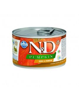 Alimento umido per cani Farmina Natural e Delicius Pumpkin Adult mini Quaglia e zucca 140g