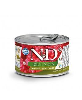 Alimento umido per cani Farmina Natural e Delicius Quinoa Adult Mini Skin e Coat Anatra e noce di cocco lattina 140g