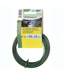 FILO ACCIAIO PLASTIFICATO BOBINA 15M VERDEMAX V004401