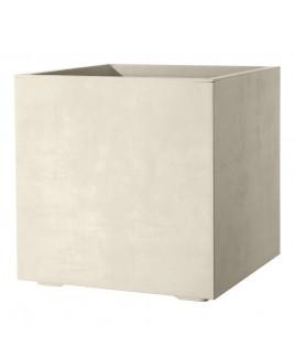 Vaso Cubo Millenium Perla Deroma 25x25x25cm 9DF2QSZA
