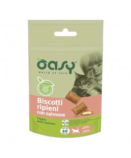 Oasy Snack Cat BISCOTTI ripieni con SALMONE 60gr