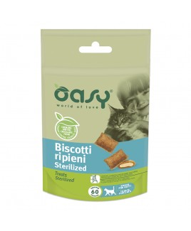 Oasy Snack Cat BISCOTTI ripieni STERILIZED 60gr