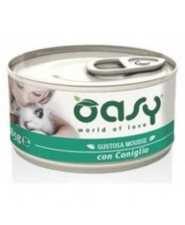 Oasy Wet Cat MOUSSE con CONIGLIO Lattina 85gr