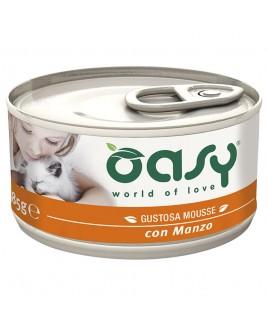 Oasy Wet Cat MOUSSE con MANZO Lattina 85gr