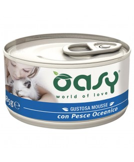 Oasy Wet Cat MOUSSE con PESCE OCEANICO Lattina 85gr