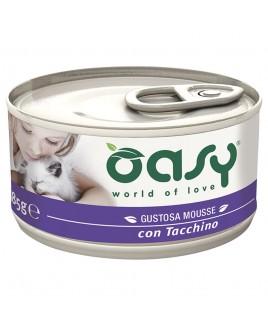 Oasy Wet Cat MOUSSE con TACCHINO Lattina 85gr