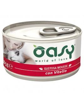 Oasy Wet Cat MOUSSE con VITELLO Lattina 85gr