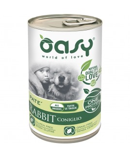 Oasy Wet Dog ONE CONIGLIO Lattina 400gr