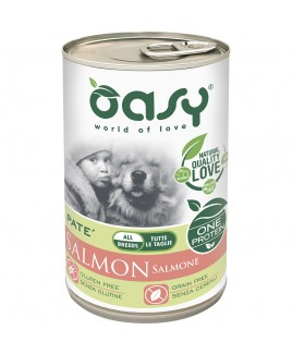 Oasy Wet Dog ONE SALMONE Lattina 400gr