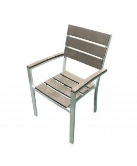 Poltrona Sorrento alluminio bianco e polywood Giardinia