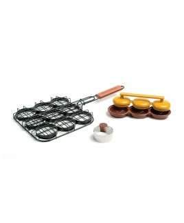 Set Deluxe Mini Burger Charcoal Companion