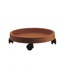 Sottovaso con ruote Carrello Lem 40 Terracotta