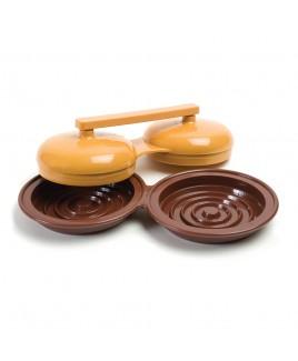 Stampo doppio per Hamburger Charcoal Companion