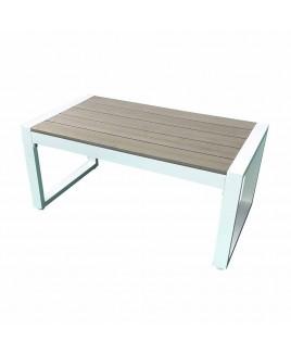 Tavolino Positano alluminio bianco polywood 90x50x40 cm Giardinia