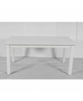 Tavolo allungabile Burano 160/240x90cm alluminio Bianco Giardinia