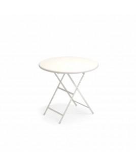 Tavolo pieghevole Arc En Ciel diam 80cm bianco Emu 303462300