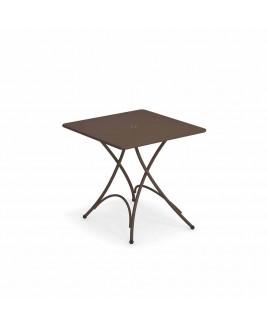 Tavolo pieghevole Pigalle 76x76cm marrone d'india Emu 309074100N