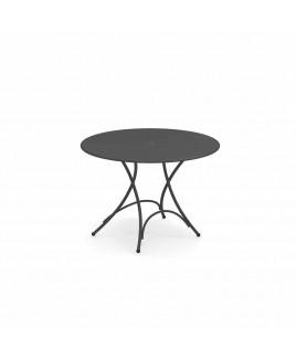 Tavolo pieghevole Pigalle diam 105cm ferro antico Emu 309042200N